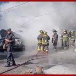 Controlan en su totalidad incendio en la colonia Jamaica; no se registraron pérdidas humanas
